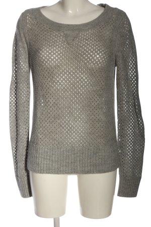 Club Monaco Crochet Sweater light grey casual look