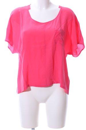 Club Monaco Kurzarm-Bluse pink Casual-Look