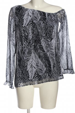 Club Monaco Long Sleeve Blouse black-light grey allover print casual look