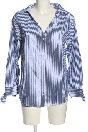 Club Monaco Camicia a maniche lunghe bianco-blu motivo a righe stile casual