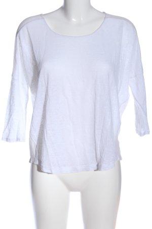 Club Monaco Blusa trasparente bianco stile casual