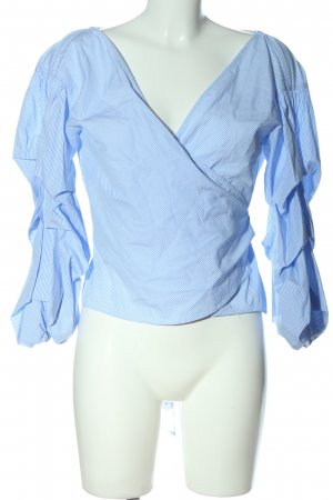 Club Monaco Wickel-Bluse blau-weiß Streifenmuster Business-Look
