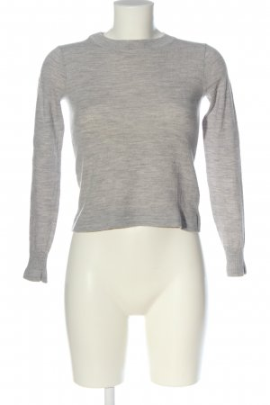Club Monaco Wool Sweater light grey-natural white flecked casual look