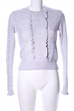 Club Monaco Cable Sweater light grey flecked casual look