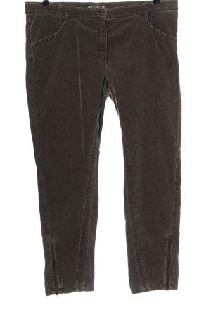 Club of Comfort Pantalon en velours côtelé brun style décontracté