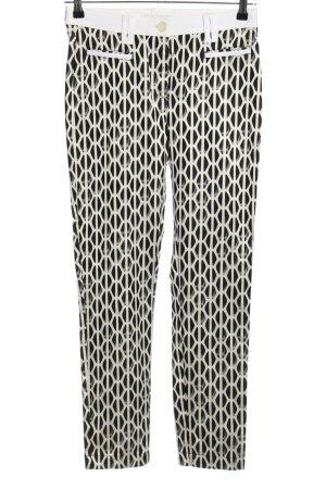 Club of Comfort Drainpipe Trousers white-black allover print casual look