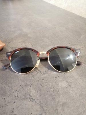 Ray Ban Lunettes de soleil rondes bordeau-brun métal