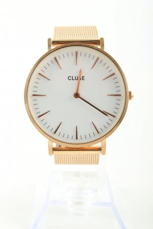 Cluse Analoguhr goldfarben Business-Look