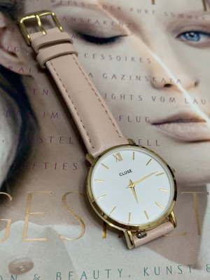 Cluse Watch With Leather Strap gold-colored-light pink