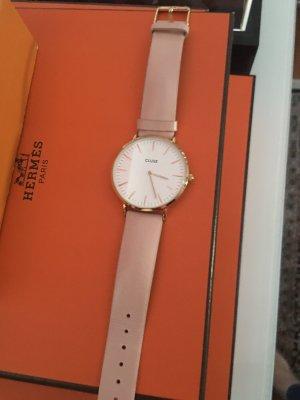 Cluse Horloge met lederen riempje goud-rosé
