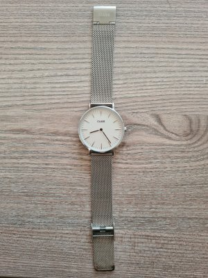 Cluse Watch With Metal Strap white-silver-colored metal