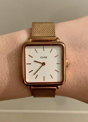 Cluse Reloj con pulsera metálica color rosa dorado-blanco