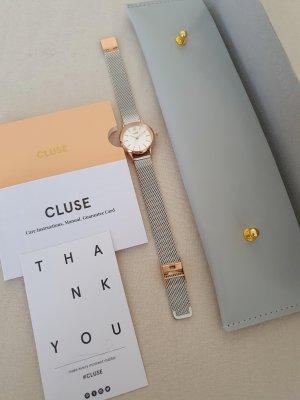 Cluse Reloj con pulsera metálica color plata-color rosa dorado