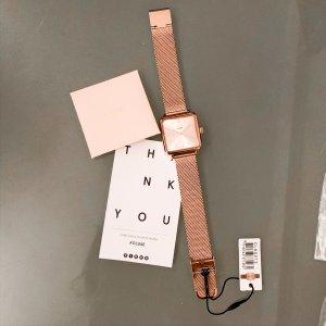 Cluse Le Tetragone Uhr Armbanduhr vintage retro Mesh Watch Rose Gold