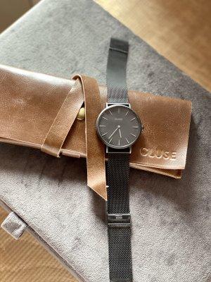Cluse Minuit Mesh Black-Armbanduhr