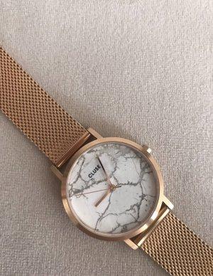 CLUSE Roségold Marmor Uhr