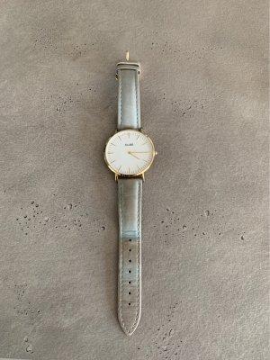 Cluse Horloge met lederen riempje goud-lichtgrijs
