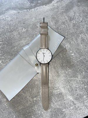 Cluse Orologio con cinturino di pelle grigio chiaro