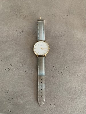 Cluse Watch With Leather Strap gold-colored-light grey