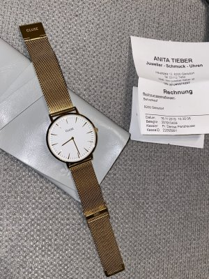 Cluse Watch With Metal Strap gold-colored