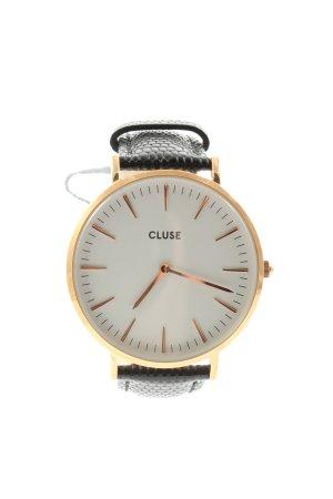 Cluse Uhr mit Lederarmband goldfarben-schwarz Business-Look