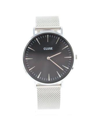 Cluse Uhr mit Metallband silberfarben Business-Look