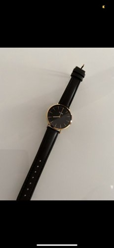 Cluse Watch With Leather Strap black