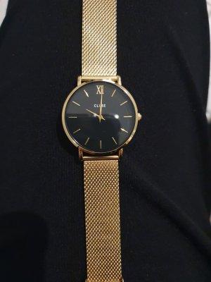 Cluse Uhr schwarz gold