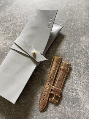 Cluse Orologio con cinturino di pelle oro