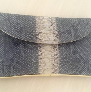 Clutch / Abendtasche / Schlangenleder Optik / goldene Details / NEU