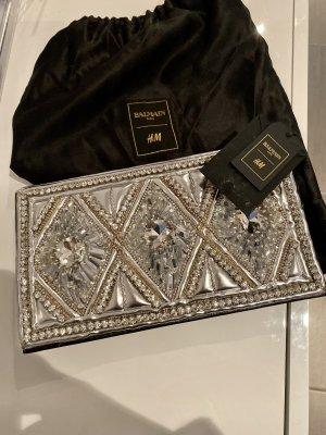 Balmain for H&M Clutch silver-colored