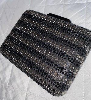 Bijou Brigitte Clutch black-silver-colored