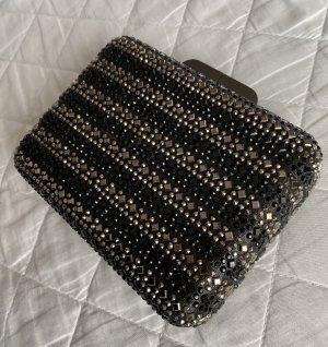 Clutch Box - Black Sparkle - Minitasche