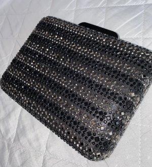 Torebka mini czarny-srebrny