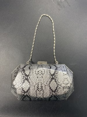 Clutch silver-colored-black