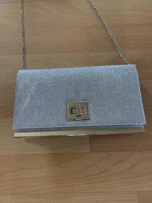 Clutch Handtasche Silber