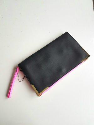 Clutch in pink-schwarz
