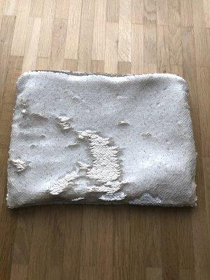 Borsa clutch bianco-bianco sporco Tessuto misto