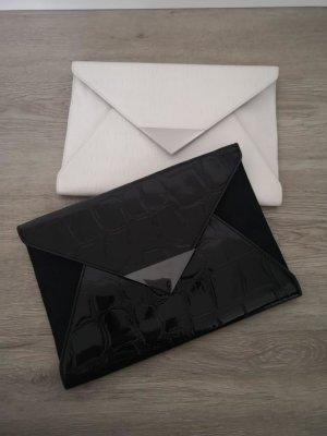 H&M Clutch wit-zwart
