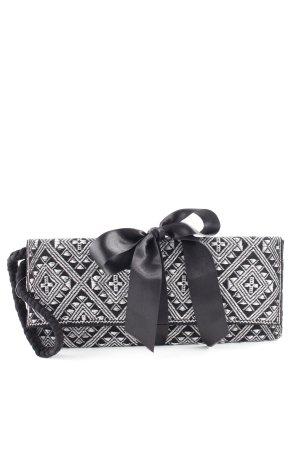 Clutch silberfarben-schwarz Elegant
