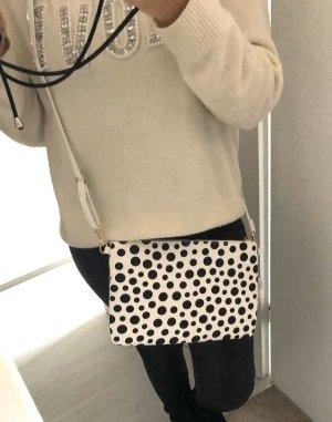 Bolso de mano negro-blanco