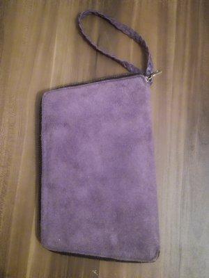 Clutchbag violett Rauleder