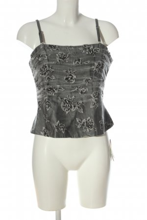 CM by Papst Corsage Top light grey allover print elegant