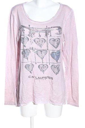 Cm Laufsteg Longsleeve pink themed print casual look