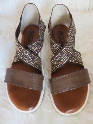 Cm Laufsteg Comfort Sandals cognac-coloured-brown leather