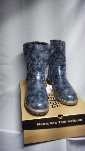 Cm Laufsteg, Winter Boots, Stiefel,Warmfutter,blau-grau metallic,Gr.39