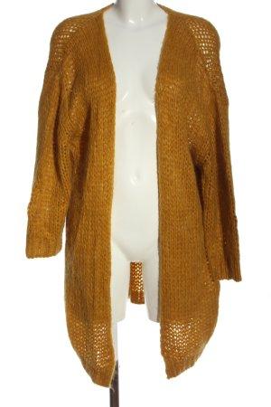 CM Premium Knitted Cardigan light orange casual look
