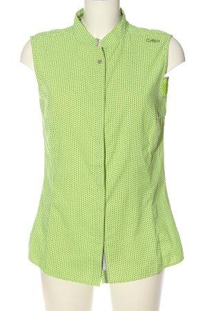 CMP Blusa senza maniche verde stampa integrale stile casual