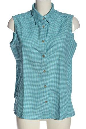 CMP Blusa senza maniche blu-bianco stampa integrale stile casual