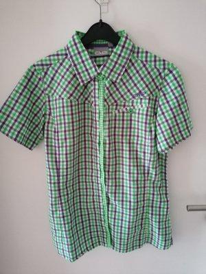 CMP Camicia a scacchi verde chiaro